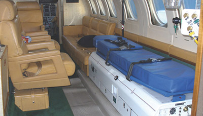 Medical repatriation with medical plane or medical helicopter