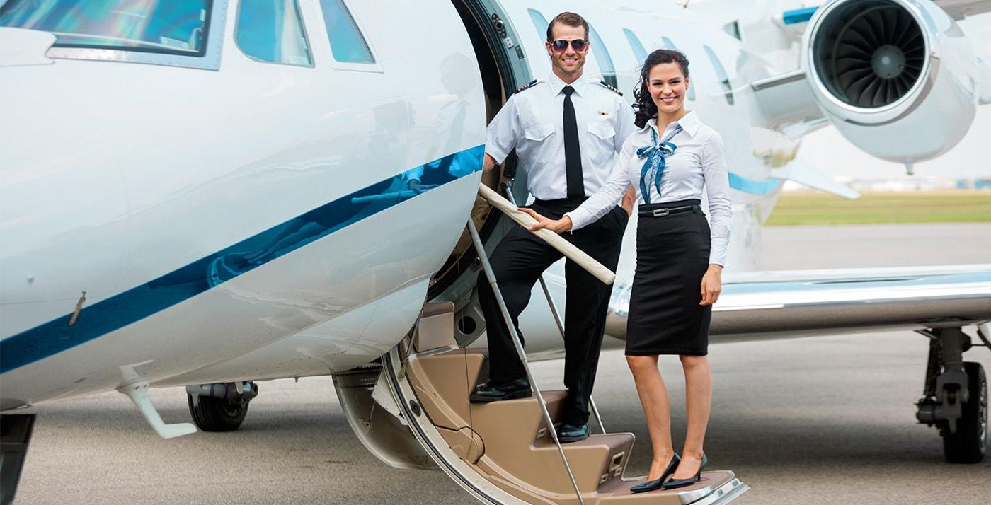 flight charter pilot stewardess